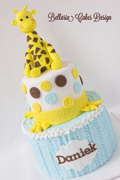 Giraffe baby cake. - Giraffe baby cake.