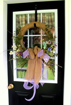 Summer burlap wreath