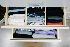 Folded Items Organized By Fitz