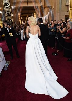 Lady Gaga in Brandon Maxwell | 2016 Oscars