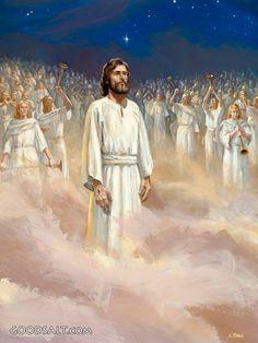 Pictures Of Jesus Christ, Bible Pictures, Heaven Pictures, La Sainte Bible, Jesus Painting, Bride Of Christ, Prophetic Art, Jesus Is Coming, Biblical Art