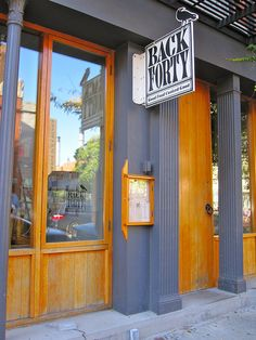 Back Forty   a burger joint—but an organic and responsibly sourced one, with ample, in-season vegetarian dishes   East Village