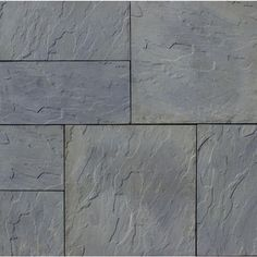 Patio-on-a-Pallet 12 in. x 24 in. and 24 in. x 24 in., 48 sq. ft. Concrete Gray Variegated Basketweave York-Stone Pavers, Gray Variegated (Gray Blended With Hints Of Green)