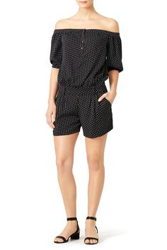Nicole Miller Ditzy Dot Off the Shoulder Romper Beach Vacation Packing List, Nicole Miller, Off The Shoulder, Random Stuff, Fashion Beauty, Dots, Rompers, Dresses, Random Things