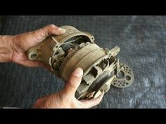 How Easy to Convert a Car Alternator to Motor # Technical Partha Basic Electrical Wiring, Electrical Projects, Electronics Projects, Electrical Energy, Motor Generator, Diy Generator, Magnetic Power Generator, Alternator Repair, Diy Air Conditioner
