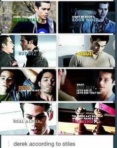 Teen Wolf ~ Derek according to Stiles Dylan O'brien, Teen Wolf Dylan, Teen Wolf Stiles, Teen Wolf Cast, Stiles Derek, Teen Wolf Funny, Teen Wolf Memes, Derek Hale, Tyler Hoechlin