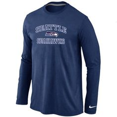 Nike Seattle Seahawks Heart  amp  Soul Long Sleeve T-Shirt Dark Blue   Emillia fef2b8191