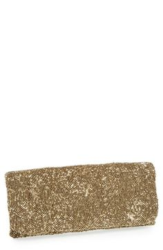 Moyna Beaded Clutch Antique Gold