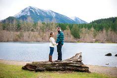 Engagement session, engagement pose, engagement photo, North Bend, Rattlesnake Ledge, Seattle engagement photo, Ashley Danielle Photography, Rattlesnake Lake