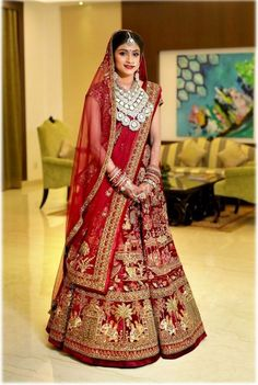 A Grand Jaipur Wedding With A Bride In Beautiful Outfits & Absolutely Stunning Decor! Indian Bridal Outfits, Pakistani Wedding Outfits, Indian Bridal Lehenga, Bridal Dresses, Girls Dresses, Bridal Looks, Bridal Style, Designer Bridal Lehenga, Lehenga Designs