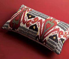 Madeline Weinrib Vino Ikat Pillow as seen in Elle Decor