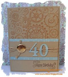 Change the baby blue to dark blue for a masculine card.  (Feb'13) #masculine, #milestone