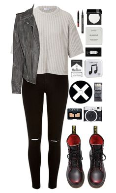 """gravity gets us all"" by ellac9914 ❤ liked on Polyvore featuring River Island, Brunello Cucinelli, MiH Jeans, Happy Plugs, H&M, Byredo, MAKE UP FOR EVER, Retrò, NARS Cosmetics and Maybelline"
