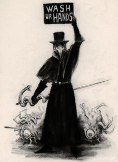 Dark art for our inner demons — spainonymous: Lávate las manos y quédate en. Dark Fantasy Art, Dark Art, Drawing Faces, Cool Drawings, Hipster Drawings, Manga Drawing, Drawing Tips, Pencil Drawings, Plauge Doctor
