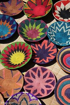 """motleycraft-o-rama: """" African Woven Baskets, from Andrew Hector Interiors. African Design, African Art, African Home Decor, Baskets On Wall, Woven Baskets, Tapestry Crochet, Textures Patterns, Basket Weaving, Diy And Crafts"""
