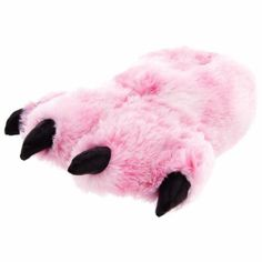 Wishpets Pink Fuzzy Bear Paw Animal Slippers for Women and Men - Toys & Games - Dolls & Accessories - Rag & Soft Dolls