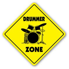 DRUMMER-ZONE-Sign-drum-sticks-musician-band-gift-rock-play-music-lessons-teacher