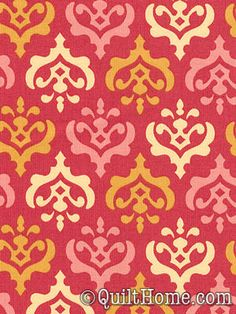 Freshcut™ 2012 PWHB032-Red Fabric by Heather Bailey - I would add this to the nursery mix for a baby girl.  Quilt Home in Dallas