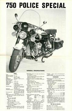 NOS Moto Guzzi Specification Poster 850 Eldorado loop frame police