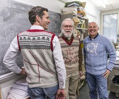 Particle physicists in Norwegian knitwear, CERN-themed knitwear! (aka European Organization for Nuclear Research)