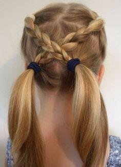 coiffure pour petite fille idées coiffure facile