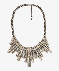 $14.80 Rhinestoned Bib Necklace   FOREVER21