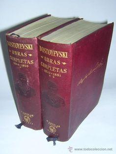 Obras completas de Dostoievsky en 2 tomos de la colección Obras eternas, editorial Aguilar. 1956