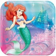 The Little Mermaid Dinner Plates Square Pkt8 $8.95 A555074