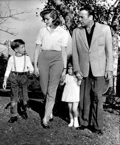 Humphrey Bogart, Lauren Bacall and their children.