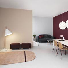 Oona vloerkleed Normann Copenhagen 140x140cm roze | Musthaves verzendt gratis
