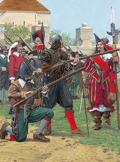 """Imperial Armies - Musketeers"" • Caliverman • Musketeer wearing a 'secrete' • Officer"