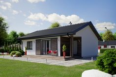 CG visualisations for online catalogue Cute House, Good House, Small House Exteriors, Simple House Design, Loft Room, Backyard Landscaping, House Colors, Bungalow, House Plans