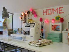 Penelope Home - compartiendo Inspiración: Mi rincón de costura y manualidades