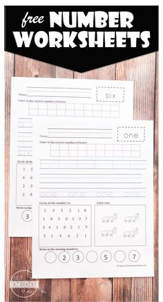 This math worksheet will help give your Preschool, Kindergarten, or grader some extra practice writing their numbers from S. Number Worksheets Kindergarten, Printable Math Worksheets, Preschool Writing, Writing Worksheets, Preschool Printables, Teaching Math, Math Activities, Teaching Geography, Maths