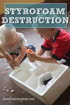 Destroying styrofoam with REAL tools! Remember to keep all packaging materials for this!