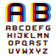 ダウンロード - 歪みぼかしフォント アルファベット — ストックイラストレーション #85303346
