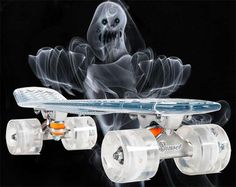 No matter how lame your tricks are you're guaranteed to turn heads when you ride around on the light up poly-carbonate skateboard. Ultra bright LED wheels...