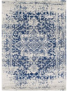 + bedroom // $316 Prisha Rug, White and Blue