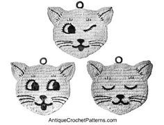 Free Crochet Potholder Patterns for Cats: How to Crochet a Potholder