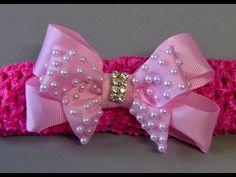 Laço para Princesa com fita de cetim e organza -DIY- Bow Tie for Princesses - YouTube