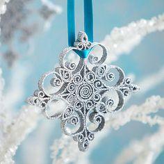 glitter/paper snowflake ornament