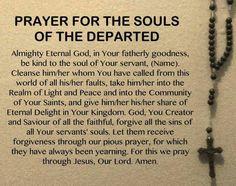 Pray for the Holy Souls in Purgatory Prayer Verses, Faith Prayer, Prayer Book, Prayer Quotes, God Prayer, Prayer For Dad, Prayer Cards, Faith Quotes, Novena Prayers