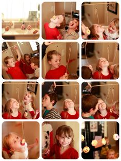 bobbing for doughnuts.  What a cute party idea for kids.
