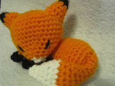 Fox Amigurumi Pattern by NerdyKnitterDesigns on Etsy