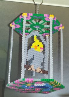 Another 3D Perler birdcage I designed for my cockatiel.