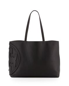 All T East-West Tote Bag, Black by Tory Burch at Neiman Marcus.