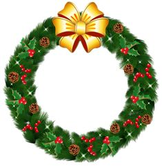Transparent Christmas Pine Wreath with Gold Bow PNG Clipart Christmas Clipart Free, Christmas Wreath Clipart, Christmas Images Free, Christmas Tree Decorations, Christmas Wreath Image, Christmas Frames, Christmas Holidays, Christmas Wreaths, Christmas Wreath Illustration