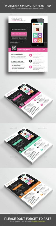 #Mobile #Apps Promotion #Flyer Psd - Corporate Flyers Download here: https://graphicriver.net/item/mobile-apps-promotion-flyer-psd/14568287?ref=alena994