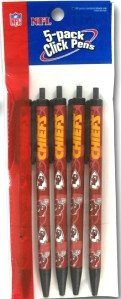Kansas City Chiefs Click Pens - 5 Pack