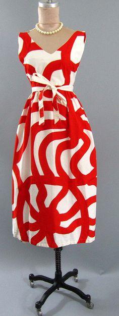 Vintage 60s Joonas 64 Marimekko Fabric Mod Christmas One of A Kind Wrap Dress | eBay